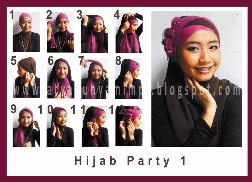 Tutorial Hijab Party Wijaya Group | Foto foto Asik Terbaru OneSoft