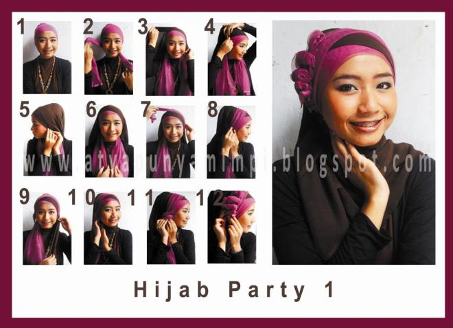Tutorial Hijab Party | Cahaya Suci